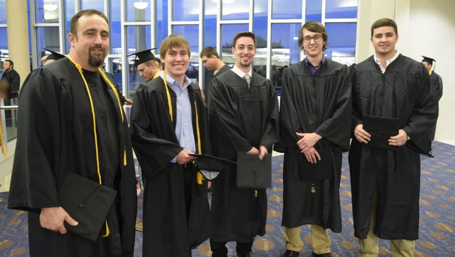 Ty Webb (right) graduated with associate's degrees in Instrumentation Technology and Electrical Power and Controls from Texas State Technical College in Waco.