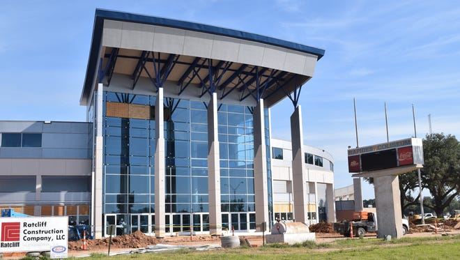 Construction on the renovated Rapides parish Coliseum in October.