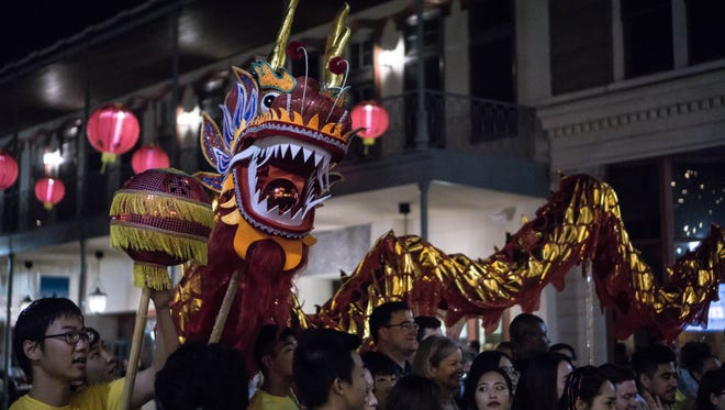 The first Gallery Night of 2017 celebrated the Lunar New Year by hanging 250 Chinese lanterns and having drum and dragon dance demonstrations.