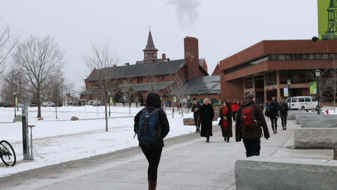FILE: The University of Vermont campus on a winter day.