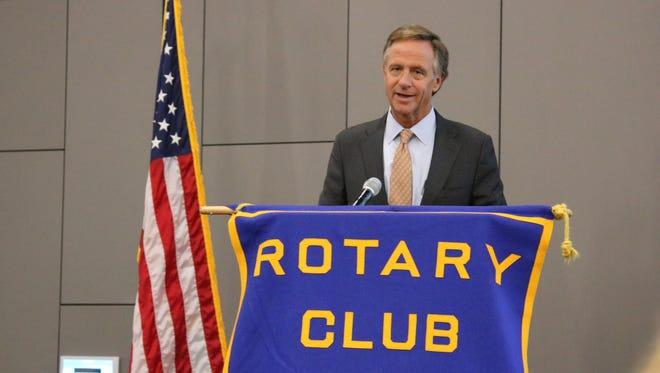 Tennessee Gov. Bill Haslam spoke at a Rotary Club of Smyrna meeting Thursday, Feb. 9, 2017.