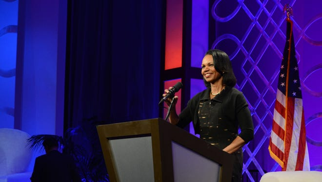 Former U.S. Secretary of State Condoleezza Rice spoke in Indian Wells on Feb. 24, 2017 during a Desert Town Hall event.