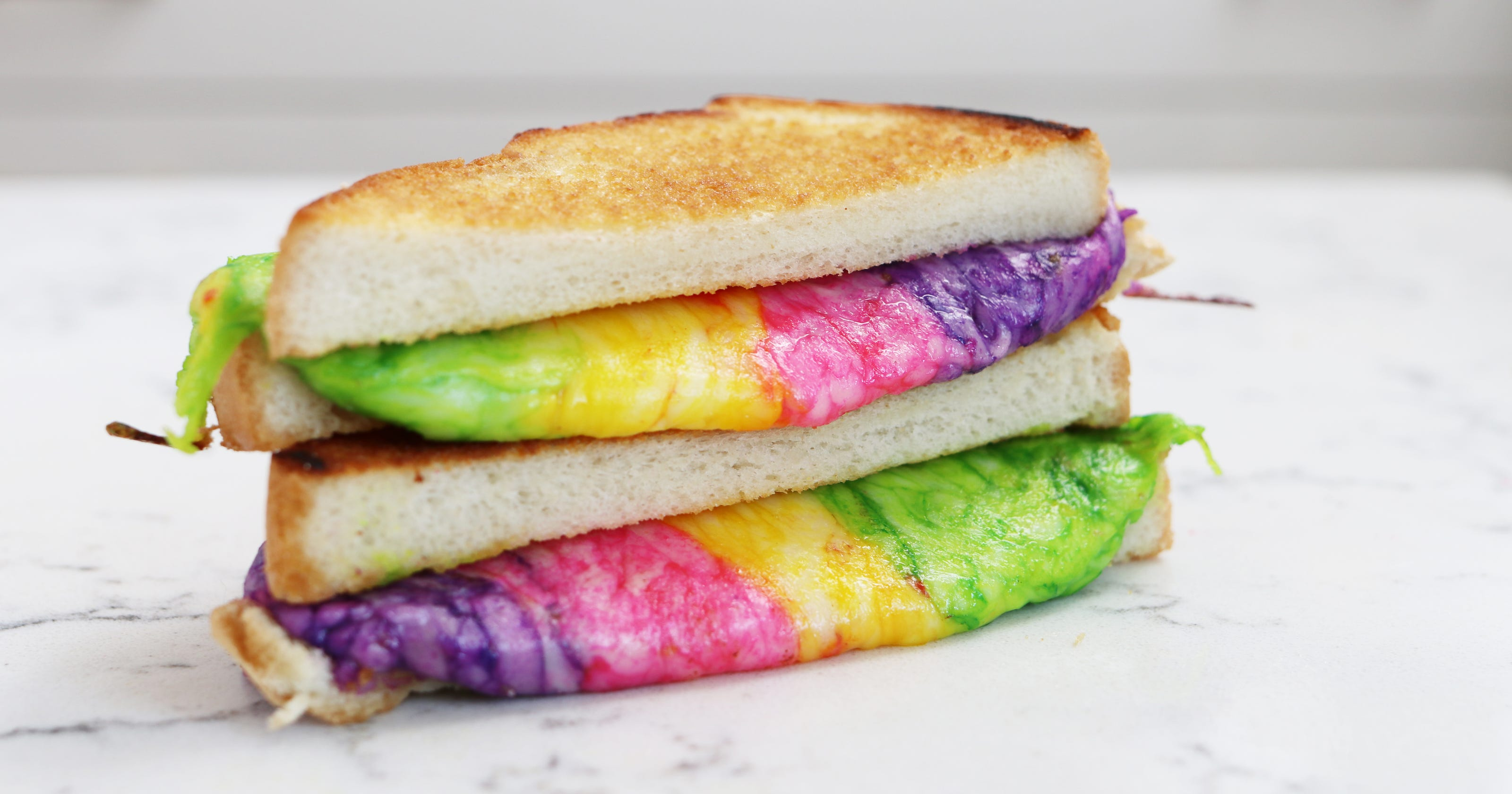 National Grilled Cheese Day: How to make a rainbow sandwich