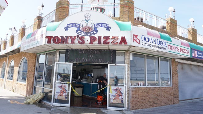 Tony's Pizza is shown after an oven fire on Thursday, April 13.