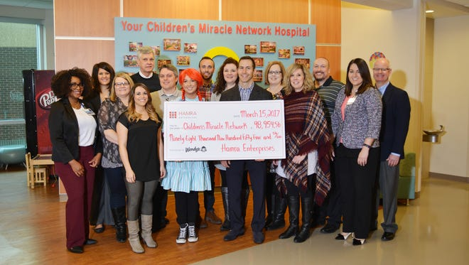 Hamra Enterprises' Wendy's division raised nearly $100,000 for Children's Miracle Network Hospitals in 2016 and have partnered with the charity for 2017.