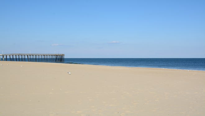 View Northeast from Ocean City Life Saving Station Beach, South Parking Lot. (Simulation)