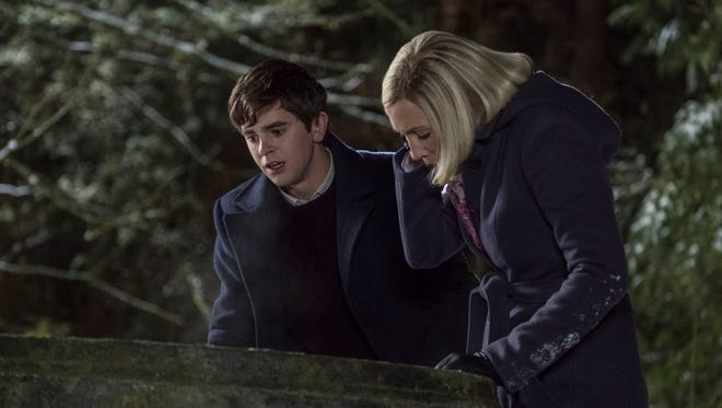 Norman Bates (Freddie Highmore), left, is inextricably tied to Mother (Vera Farmiga) in A&E's 'Bates Motel.'