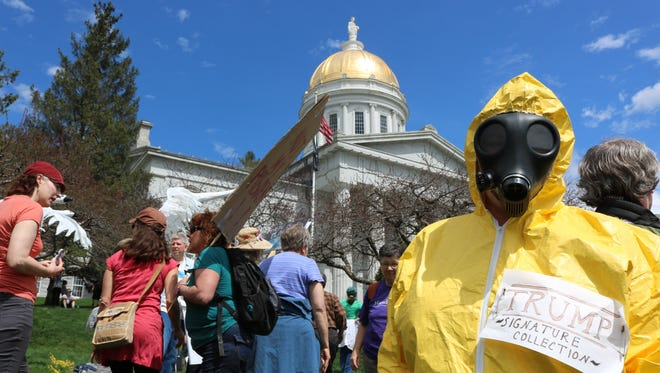 Peoples Climate Rally, Montpelier, Vermont on April 29, 2017