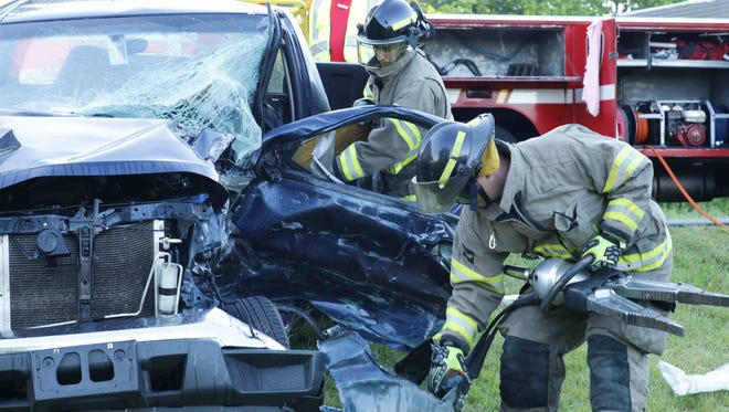 A teenage driver was injured in a wreck Monday morning on Cumberland Drive.