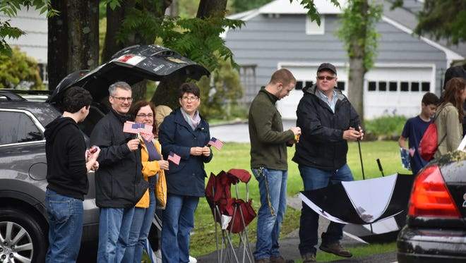 Wyckoff residents lined Wyckoff Avenue for the town's annual Memorial Day Parade