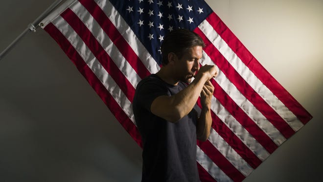 Roberto Pickering, 36, uses marijuana for post-traumatic stress disorder. Pickering was a U.S. Marine Corps sniper in 2003 and 2004, and is a founder of Battlefield Foundation. Dr. Sue Sisley is heading a medical study of marijuana as a treatment for veterans with post-traumatic stress disorder.