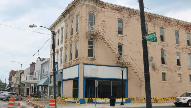 This vacant building at 131 Madison St. in downtown Port Clinton was torn down and is now set to be converted into green space by the Ottawa County Land Bank.