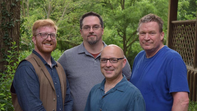 The HeroVillains (from left): Kevin Tisdel, Rich Nelms, Tom Russo, Chris Appleby