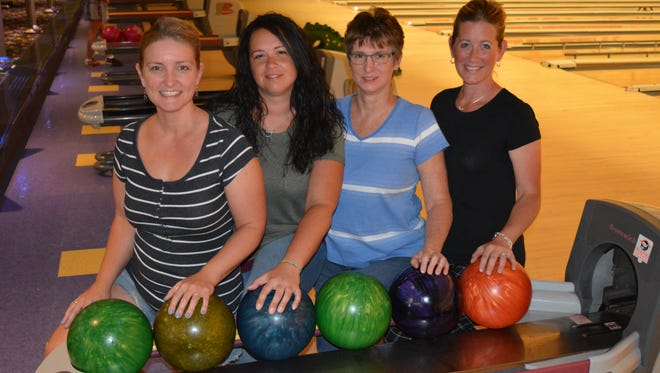 The BowlerMaxx team from York recently won the state women's scratch team title.  Team members, from left to right, are Stephanie Whipple-Miller, Becky Daigle, Brenda Danfelt and Tracy Hedrick.