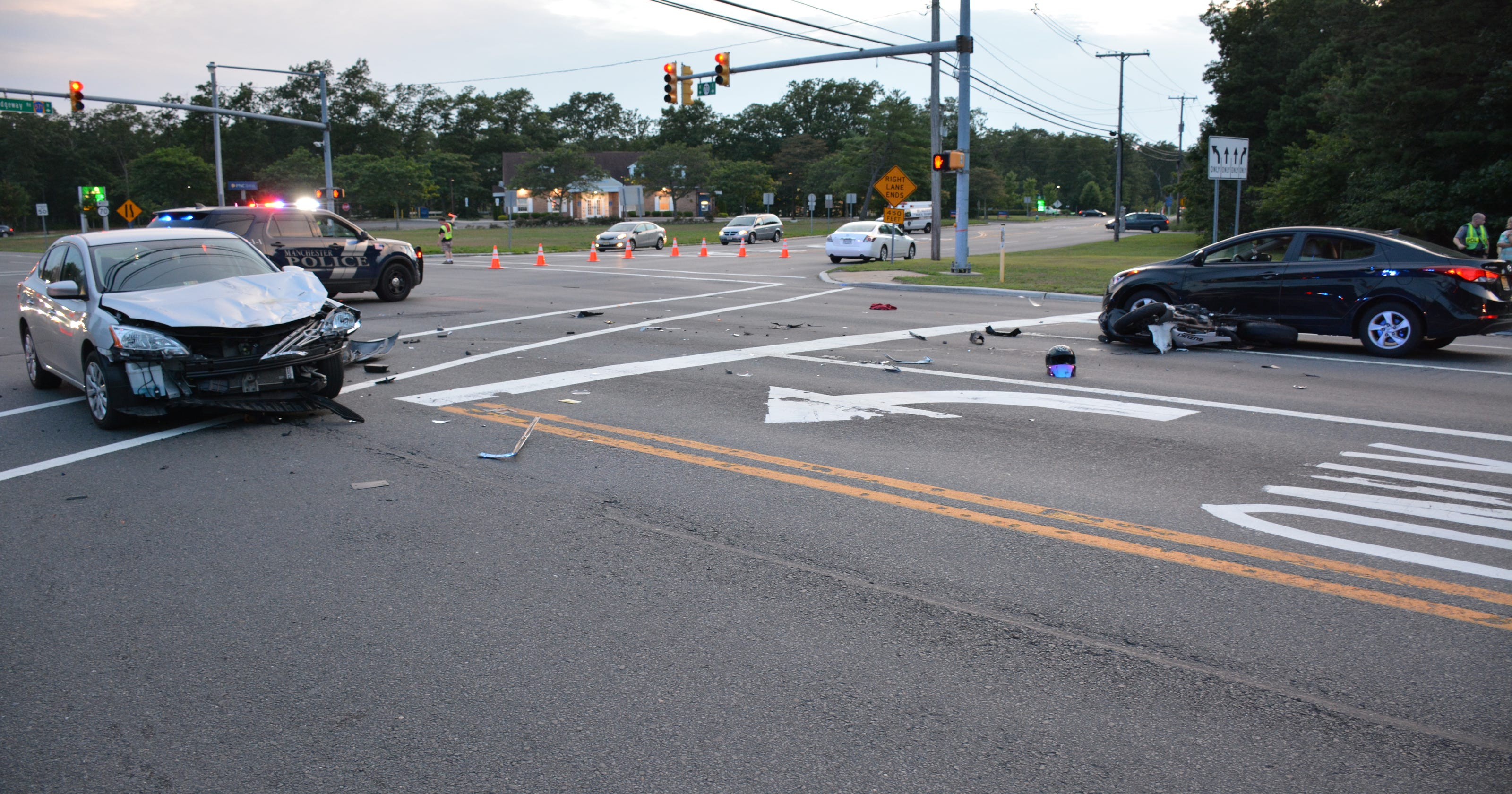 Cops: 2 motorcycle riders flown to hospital after crash