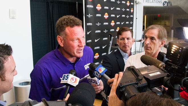 Grand Canyon men's basketball coach Dan Majerle talks about the Dec. 5 double-header also featuring the Arizona Wildcats.