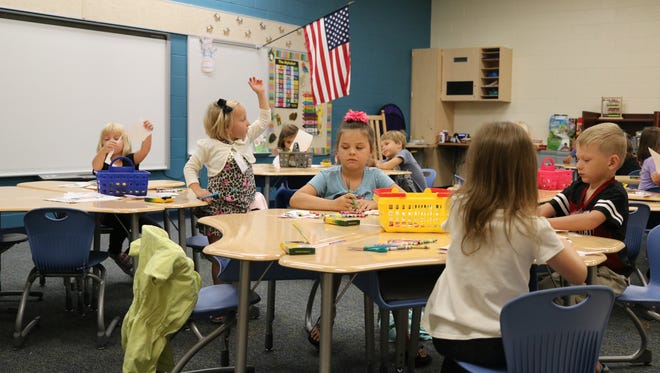 Soon-to-be Port Clinton students get acclimated to the classroom at Bataan Primary School on Friday for 'Kindergarten Camp.'