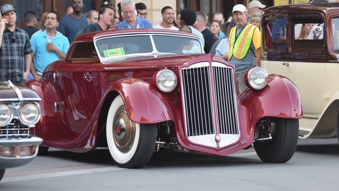 Bruce Wanta's 1936 Packard Speedster won the 2017 Hot August Night's Cup.