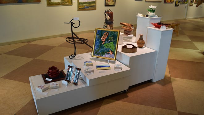 The art gallery at Coconut Point allows local members to display art work to the public.
