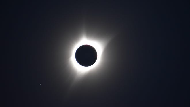 Rob Klinger and Katie Pacelli-Klinger, husband and wife duo from NMSU-Alamogordo, traveled to Douglas, Wyoming to view the Great American Eclipse in totality.
