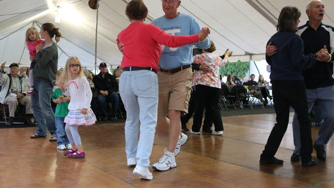Hall of Fame polka bands have patrons on their feet at the 13th annual Perch, Peach, Pierogi and Polka Festival in Port Clinton on Saturday.