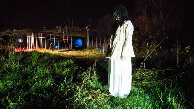 """Get your """"fright on"""" at the Hills Has Eyes display at The Rock in Franklin."""