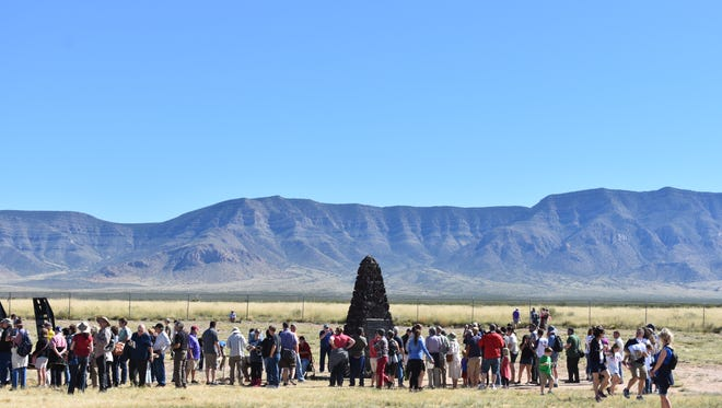 An estimated 3,000 visitors from across the country toured the Trinity Site on Oct. 7, 2017, viewing where the world's first atomic bomb was tested in 1945. The site, which sits on White Sands Missile Range, is only opened to the public twice a year.