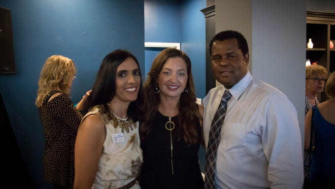 Christina Mehta Prendiville, Angela Melvin, and Michael Chatman attend the announcement of the 27 finalists in the first ENPYs awards.