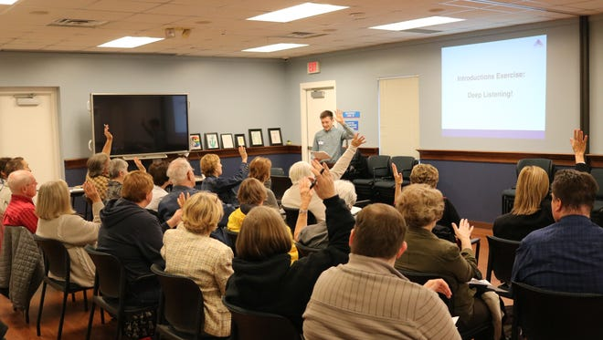 People from Port Clinton and around the region discussed American Promise's goal for a constitutional amendment on campaign finance reform, and the strategy to get there.