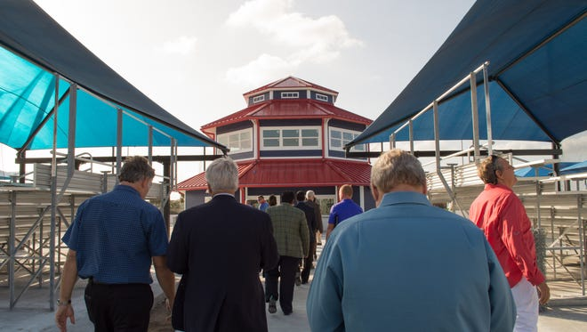 Tourism officials visit the upgraded USSSA Space Coast Complex in Viera in a 2017 photo. The complex is being redeveloped by the U.S. Specialty Sports Association, in a project topping $30 million.