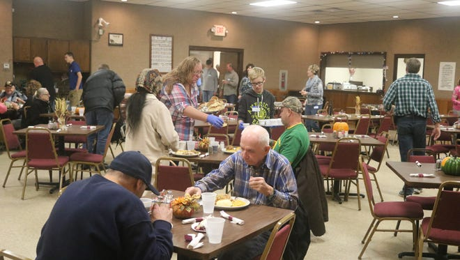 Well over 800 people are served a free Thanksgiving meal through the annual Vince Swindt Community Dinner.