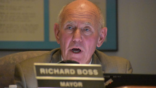 Mayor Richard Boss gives the State of the City address during the November City Commission meeting, updating the public on city projects.