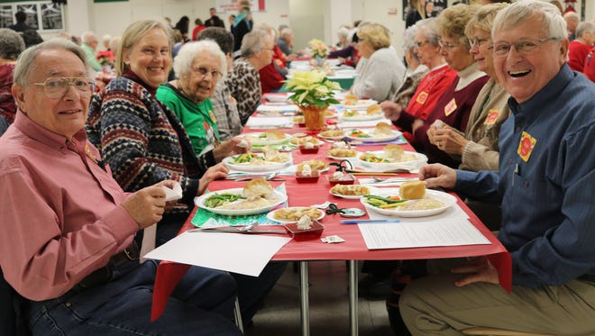 The Benton-Carroll-Salem Local School District hosted its annual Senior Citizen Christmas Luncheon at Oak Harbor High School on Wednesday.