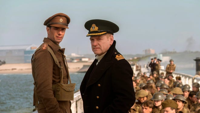 James D'Arcy, left, and Kenneth Branagh in a scene from 'Dunkirk.'