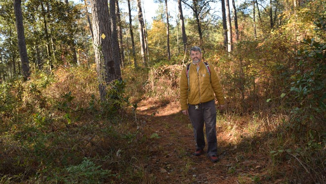 """River Oaks Square Artistic director Aubrey Bolen is an avid hiker and backpacker. Bolen is a National Recreation Trail ambassador for the U.S. Forestry Service. He is one of the """"community explorers"""" who will be leading one of the hikes  for the Wild Azalea Trail Blitz set for Saturday, April 13, 2019."""