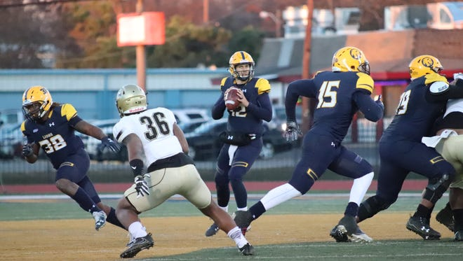 Texas A&M-Commerce quarterback Luis Perez won the Harlon Hill Trophy for the most valuable player in NCAA Division II on Thursday.