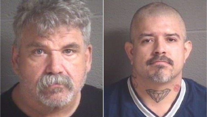 James Mark Russell, left, and Augustine Manuel Vega