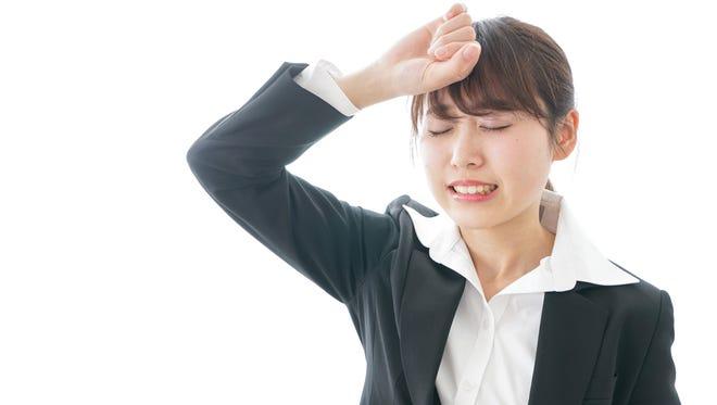 Woman having anxiety