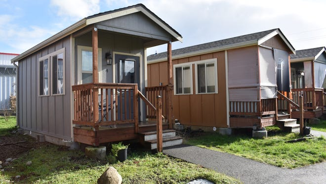 The nonprofit Panza plans to build tiny homes, like these in Thurston County, for homeless veterans in Mason County. Panza received $3 million in state capital funds to build a tiny home village in Shelton.