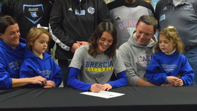 Annaclaire Johns signs to play softball at Brescia University.