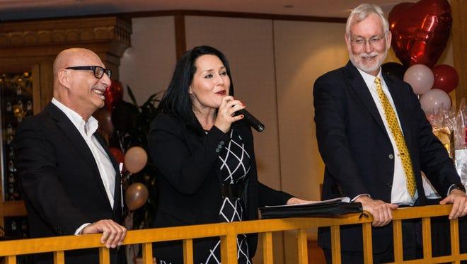 Dr. Peter Vaccaro, Jillian Payne and Dr. Richard Chinnock