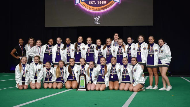 Mustangs Cheer Team from Spring Station Middle School took home national honors in February in the UCA National High School Cheerleading Championships in Orlando, Fla.