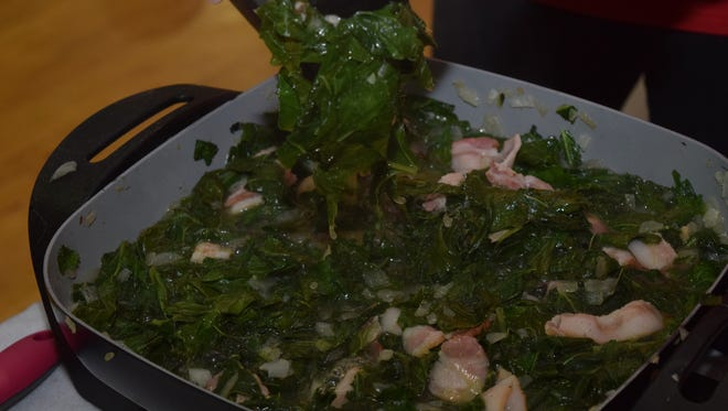 Turnip and collard greens are examples of the South's inclination to use every piece when cooking.