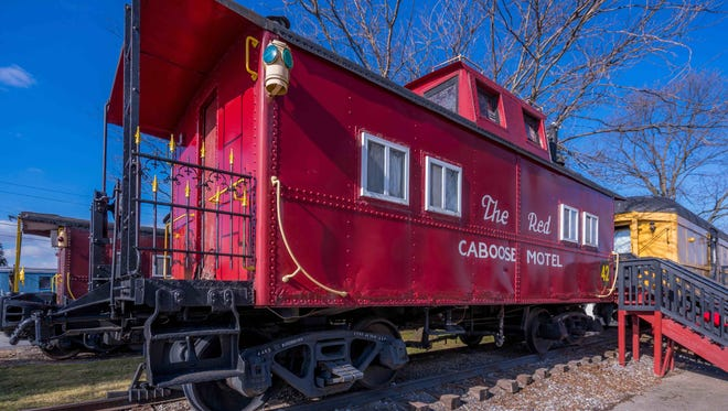 Red Caboose Motel in Ronks, Pa. has 38 cabooses. The rooms are divided into 11 general floor plans.