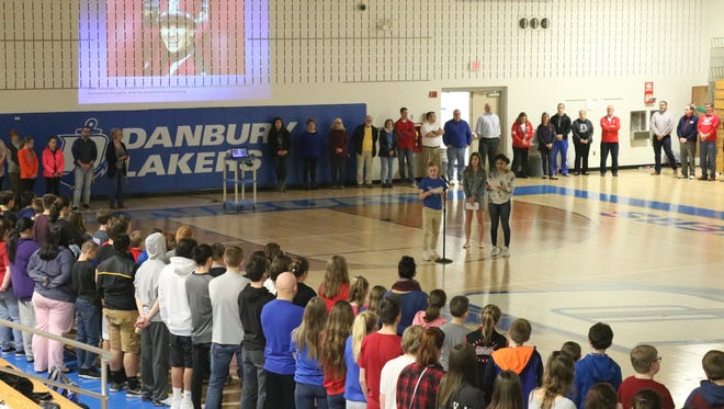 Danbury High School organized a day of solidarity to honor the lives lost in the shooting at Parkland, Florida, and to spread awareness of school safety.