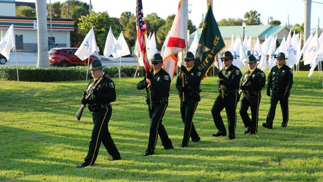 The Martin County Sheriff's Honor Guard, lead by D/S William R. Weiss, opened the ceremony.