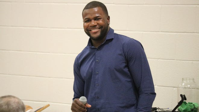 Former Ohio State quarterback Cardale Jones was the honored special guest at the father-son banquet at the Trinity United Church of Christ in Elliston.