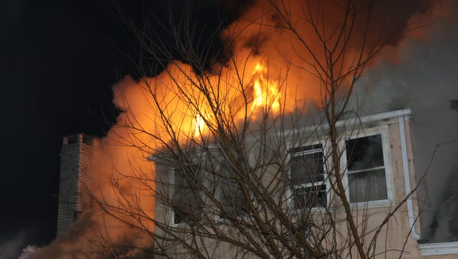 The blaze early Friday morning on the second floor of 30 Vineyard Avenue in Middletown.