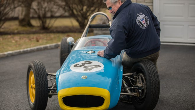 Dr. Joseph DeLucia races his 1955 Lotus 18 in Wheel to Wheel events staged by the Vintage Sports Car Club of America. DeLucia is Activities Chairman of the VSCCA.