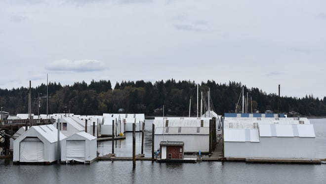 The Port of Shelton owns the Oakland Bay Marina, which has 101 slips. The south dock is in need of repair, but port officials are mulling over selling the marina rather than incurring those costs.